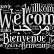 Welcome phrase in different languages — Stock Photo