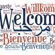 Welcome phrase in different languages - Stock Photo