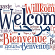 Welcome phrase in different languages — Foto Stock #15193351