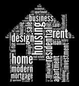 жилье графика — Стоковое фото