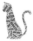 Kedi grafik — Stok fotoğraf