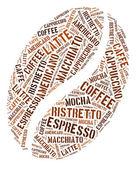 Gráficos do feijão de café — Foto Stock