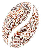 Kahve çekirdeği grafik — Stok fotoğraf