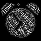 Orologio grafica su sfondo nero — Foto Stock
