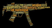Sub machine-gun graphics — Stock Photo