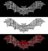 Vampire bat graphics — Stockfoto