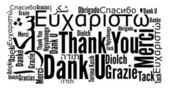 Thank you phrase in different languages — Стоковое фото