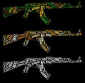 AK47 rifle graphics — Stock Photo