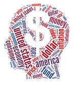 American economy concept — Stock Photo