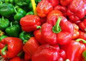 Red and Green Capsicum — Stock Photo