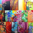 Stockfoto: Colourful Batek Prints Textile