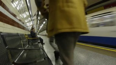 London Tube Time Lapse — Stok video