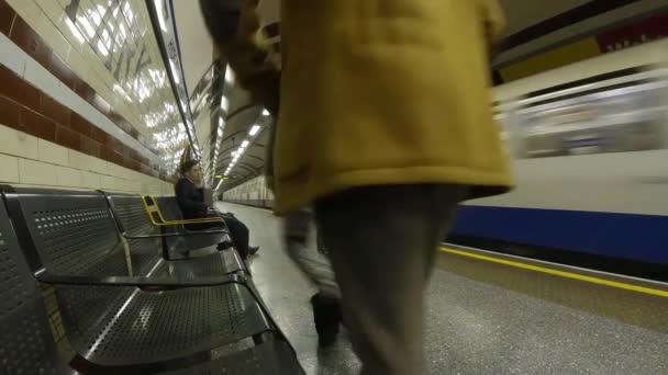Lapso de tiempo tubo Londres — Vídeo de stock