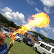 A flame blower — Foto Stock