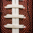 American Football Laces Closeup - Stock Photo