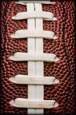 American Football Laces Closeup — Stock Photo