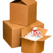 Shipping Boxes — Stock Photo
