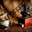 Coffee Beans and Grinder — Stock Photo #24063705