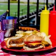Постер, плакат: American Football Tailgating Meal