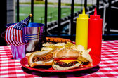 American Football Tailgating Meal — Stock Photo
