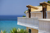 Luxury appartments with a beautiful sea view, Zakynthos — Stock Photo