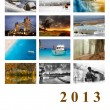 2013 Calendar Cover. Beautiful landscapes. — Stock Photo