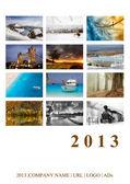 2013 Calendar Cover. Beautiful landscapes. — Stock Photo