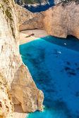 Amazing beach Navagio in Zakynthos, Greece — Stock Photo