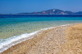 Sand of beach, greece sea — Stock Photo