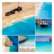 ストック写真: Navaggio Beach collage, Zakynthos Island, Greece