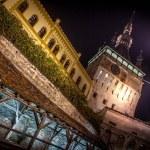 Sighisoara Medieval City, Romania photo taken in night time — Stock Photo #24180549