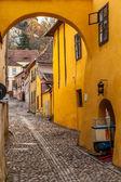 Medieval street from Sighisoara, Romania — Stock Photo
