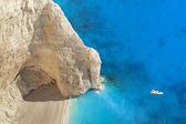 Superb beach Navagio in Zakynthos, Greece — Stock Photo