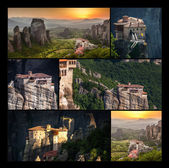 Roussanou Monastery at Meteora Monasteries in Trikala region, Co — Stock Photo