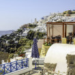 Santorini View (Firostefani) - vacation background — Stock Photo