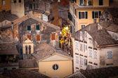Corfu town, shopping street — Stock Photo