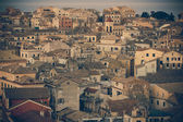 Vintage view of corfu town — Stock Photo