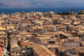 Panorama of the capital of Corfu, Greece — Stock Photo
