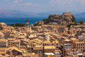 View homes in Corfu, Greece — 图库照片