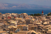 View of the Corfu town. Kerkyra, photo taken in Greece — 图库照片