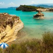 View of the bay of Sidari on Corfu. Canal d'amour — Stock Photo