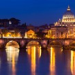 View of panorama night Vatican City in Rome, Italy — ストック写真