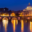 Stock Photo: View of panorama night Vatican City in Rome, Italy