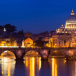 View of panorama night Vatican City in Rome, Italy — Stockfoto
