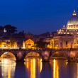 View of panorama night Vatican City in Rome, Italy — Stock Photo #35748337
