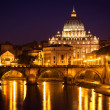 View of panorama night Vatican City in Rome, Italy — Stock Photo #35748365