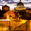Sunset over San Pietro Church, Rome — Stock Photo