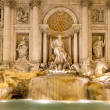 Stock Photo: View of Trevi Fountain by night, Rome, Italy.
