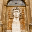 Ancient statue of Roman Emperor Gaius Julius Caesar Augustus at — Stock Photo