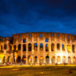 Italy Illuminated Colosseum at night — Stock Photo #36025073